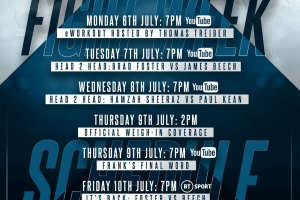 Queensberry Promotions announce details for Brad Foster vs James Beech Jr fight week July 10 at the BT Sport studios frank warren what channel who wins preview stats