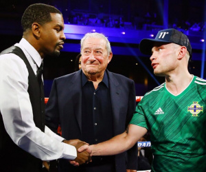 Carl Frampton unhappy with Jamel Herring for showing disrespect to Tommy Coyle wbo world super-featherweight title belt ireland three-weight triple champion history books