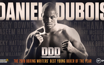 Daniel Dubois Boxing Writers' Club 'Best Young Boxer of the Year Award'