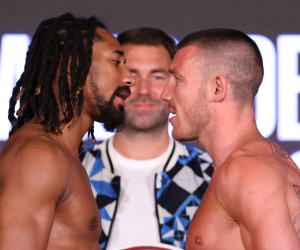 Demetrius Andrade vs Liam Williams official weights and running order Aaron Aponte sky sports start time 1.45pm what ringwalks Otha Jones III dazn