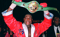 Frank Bruno reveals his winner of Anthony Joshua vs Tyson Fury predictions voting votes undisputed middle east where will it take place dubai tickets