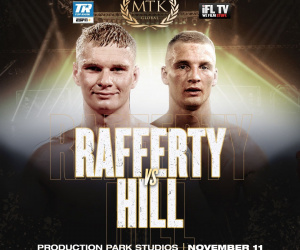 Jack Rafferty vs. Tom Hill rescheduled for November 11th MTK Fight Night