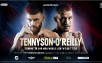 James Tennyson will face Josh O'Reilly in WBA Lightweight World Title Eliminator vs billy joe saunders martin murray undercard fight time date tv scheduled betting odds oddschecker who wins preview predictions