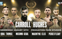 mtk Jono Carroll vs Maxi Hughes fight preview event full oddschecker betting odds tips Pierce O'Leary vs Jacob Quinn Craig MacIntyre vs Ishmael Ellis Sean McComb vs Siar Ozgul Sahir Iqbal vs Maredudd Thomas WBC Youth World
