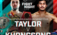 Josh Taylor IBF title defence against Apinun Khongsong confirmed saturday september 26 box office bt sport what time start who is career pro ringwalks live stream
