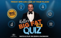 Kalle Sauerland returns as quizmaster this Friday with his Big Fat Pub Quiz what time does it start 8pm uk
