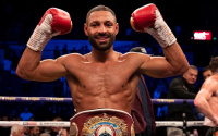 Kell Brook stops Mark DeLuca then calls out Liam Smith TKO knockout KO seventh round who won result report