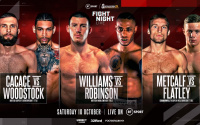 Liam Williams vs Andrew Robinson fight preview british middleweight title cacace woodstock metcalf highlights flatley willy hutchinson nathan gorman dennis mccann next fight ringwalks