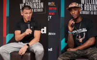 liam williams vs Andrew Robinson press conference quotes oddschecker nathan gorman richard lartey betting odds best bets tips analysis preview who wins and why