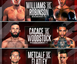 Frank Warren unveils triple title header on October 10 live on BT Sport Liam Williams JJ Metcalf Anthony Cacace