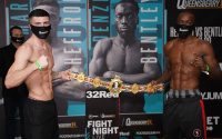 Mark Heffron vs Denzel Bentley 2 official weights and running order weigh-in bt sport frank warren what time start ringwalks tale of the tape preview watch live stream links