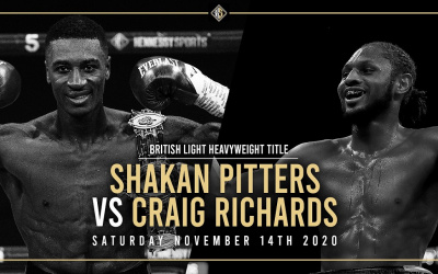 Shakan Pitters withdraws from British title defence against Craig Richards injury why did he
