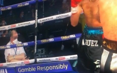 British Boxing Board of Control judge Terry O'Connor cleared of any wrongdoing what happened mobile phone during fight lewis ritson miguel vazquez