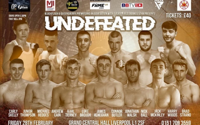 Live results from Black Flash Promotions 'Undefeated' event in Liverpool nick ball andrew cain report fight who won connor butler jof walsh
